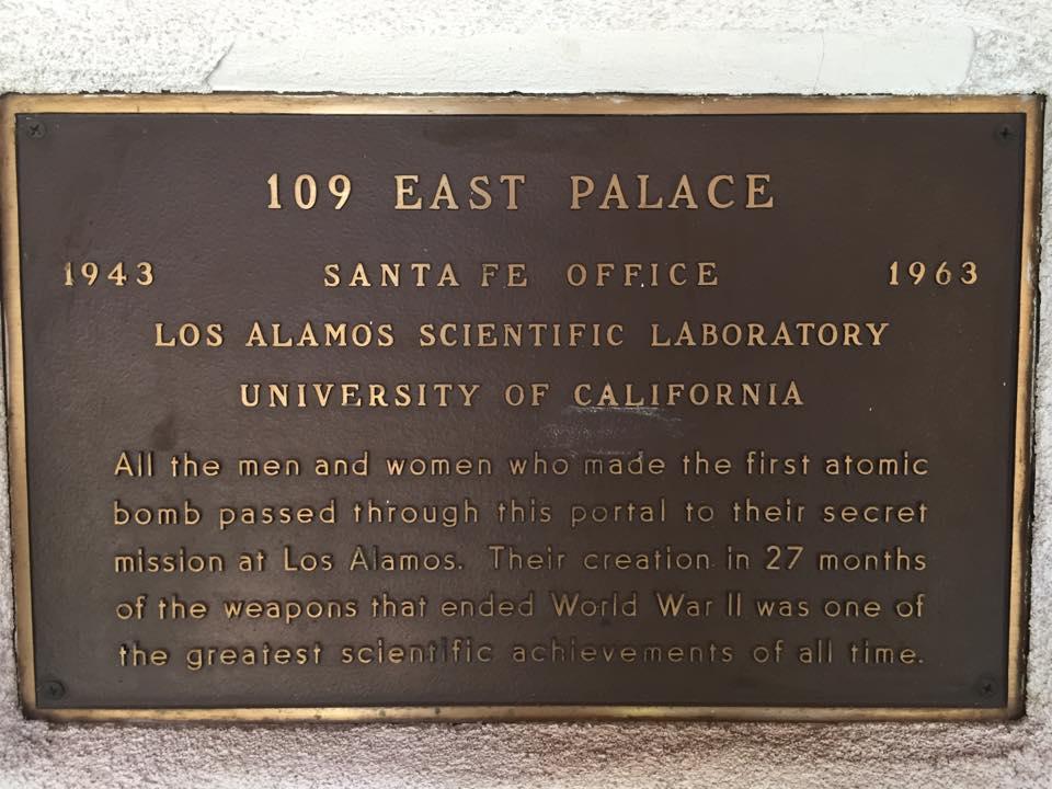 109 east palace santa fe new mexico