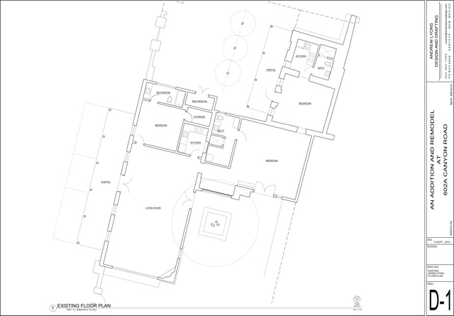 Floor Plan for Casa de la Artiste - Located on Canyon Road!