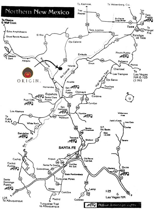 Ojo Caliente New Mexico Map.Origin Cave Casas De Santa Fe Furnished Vacation Rental In Santa