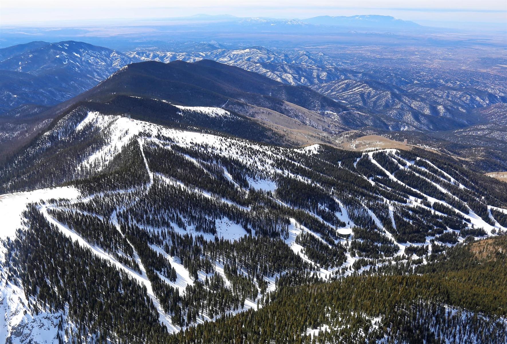 ski santa fe aerial shot